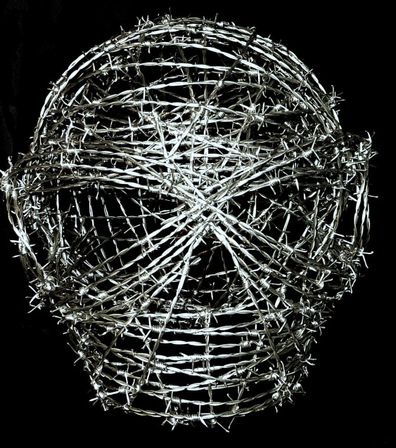 barbed-wire-skull-sculpture-anthony-moman