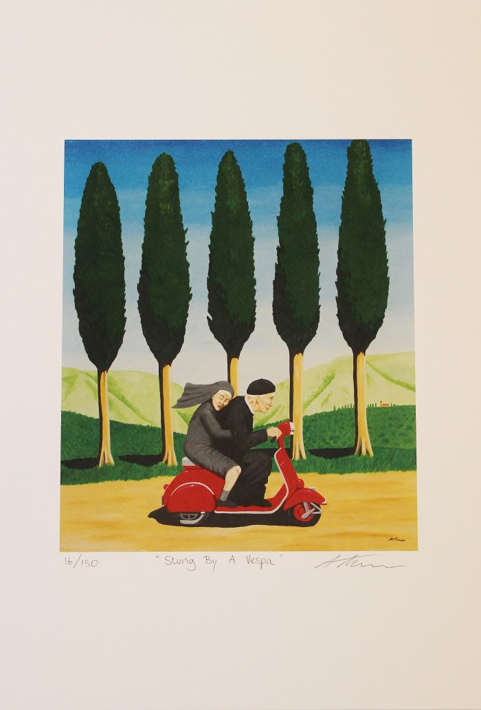 Stung By A Vespa Limited Edition Print Anthony Moman