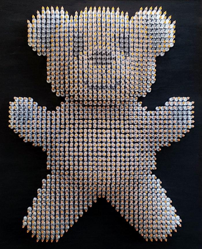 Bear -Necessities- Syringe-Art - Sculpture - Anthony - Moman