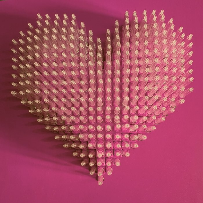 love is the drug pink syringe heart moman
