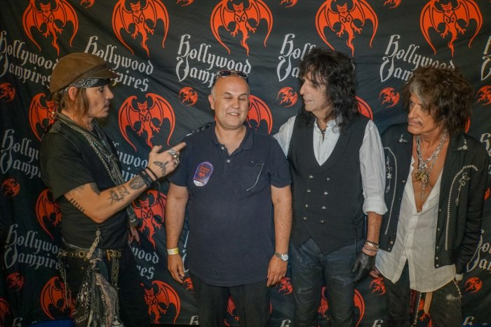 Anthony Moman with Johnny Depp and The Hollywood Vampires in Lucca