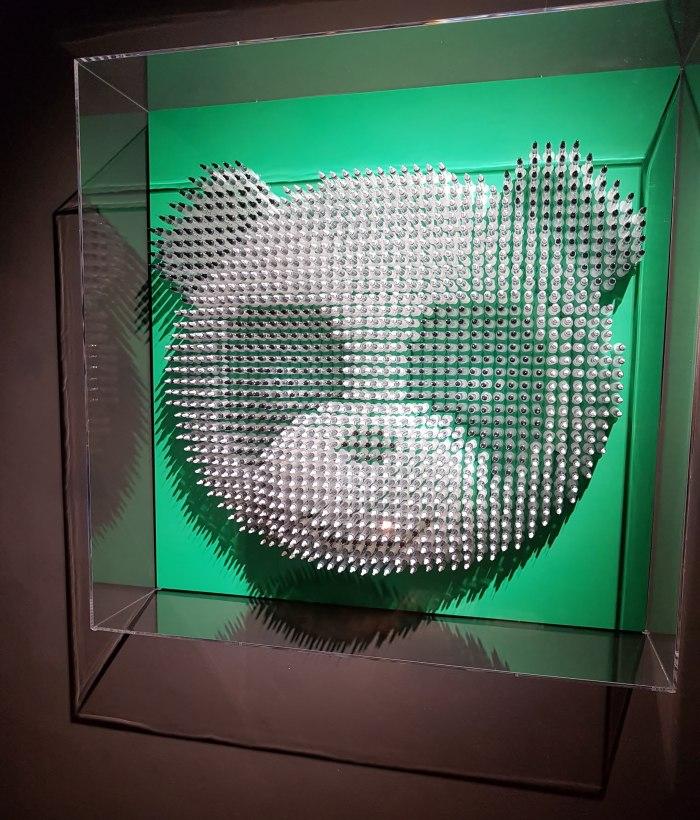 Twinkle in my Eye_panda wall sculpture Anthony Moman