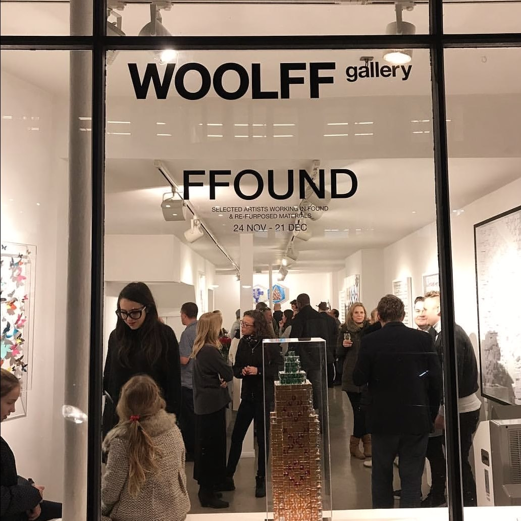 Inauguration of new group exhibition Ffound 18 at Woolff Gallery London