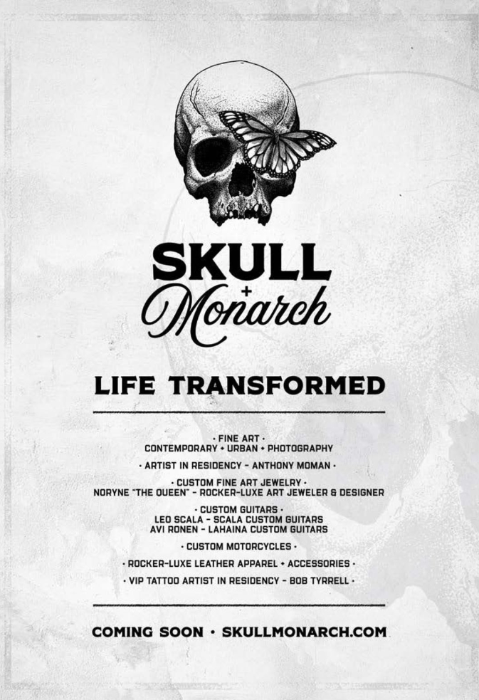 Skull + Monarch with Anthony Moman resident artist