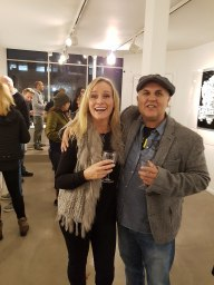 Anthony Moman and Lisa Berlevy at the opening of Ffound 18, Woolff Gallery