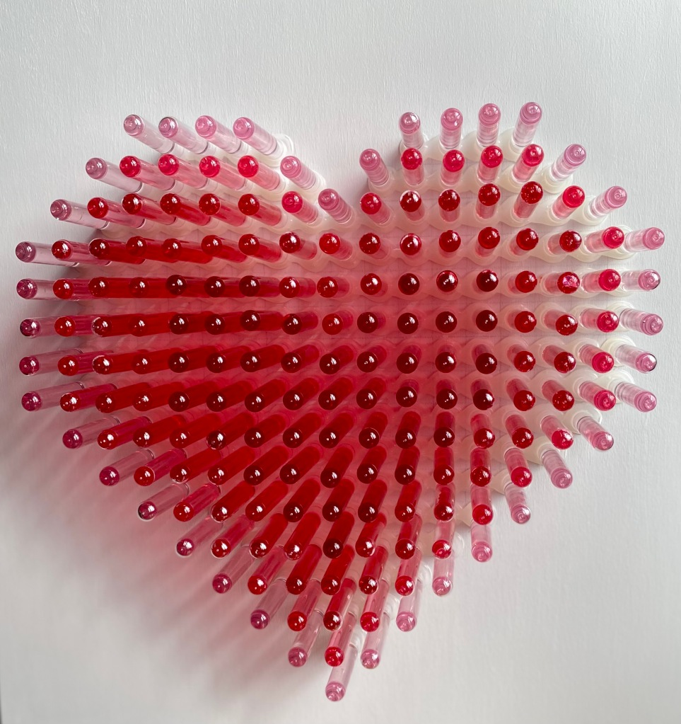 Love Potion_installation sculpture made of test tubes by contemporary artist anthony moman